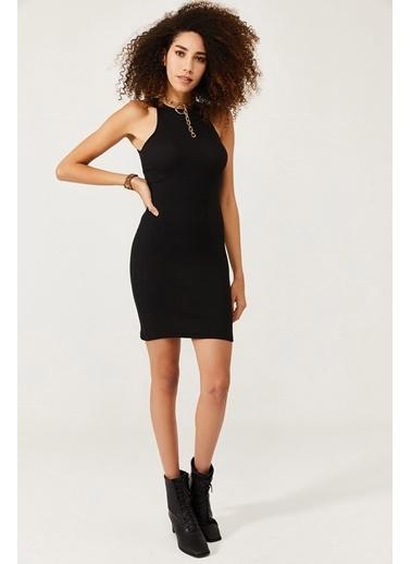 XHAN Siyah Kolsuz Karkorse Elbise 1Kxk6-44567-02 Siyah